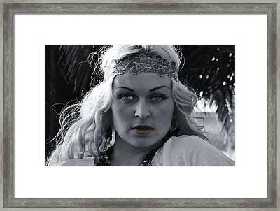 Pretty Blue Eyes Framed Print