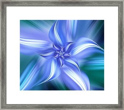 Pretty Blue Flower Framed Print by Anastasiya Malakhova