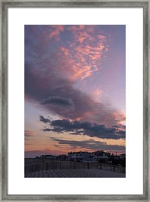 Pretty Clouds Long Beach Island Nj Framed Print