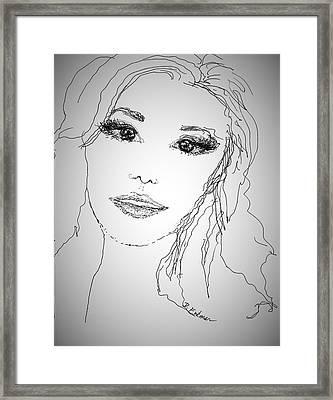 Pretty Eyes Framed Print