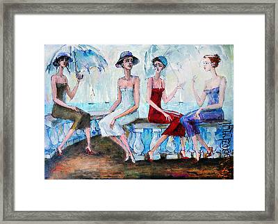 Pretty Girls Framed Print by Oleg  Poberezhnyi