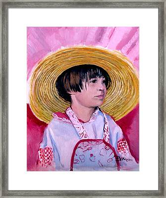 Pretty In Any Color Framed Print by Ben Bensen III