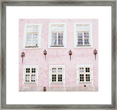 Framed Print featuring the mixed media Pretty In Pink- Art By Linda Woods by Linda Woods