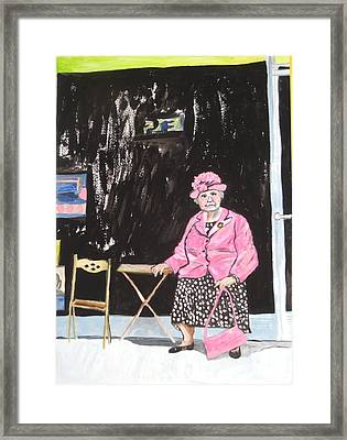 Framed Print featuring the painting Pretty In Pink by Esther Newman-Cohen
