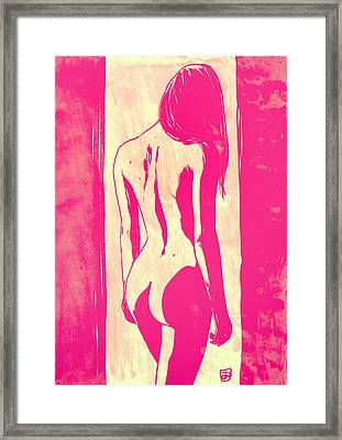 Framed Print featuring the drawing Pretty In Pink by Giuseppe Cristiano