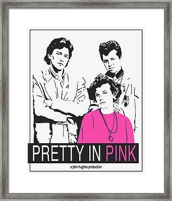 Pretty In Pink Movie Poster Framed Print by Finlay McNevin