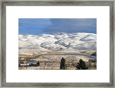 Framed Print featuring the photograph Pretty In White by Donna Kennedy