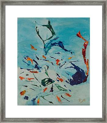 Framed Print featuring the painting Pretty Kitty by Lola Connelly