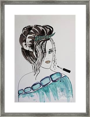 Pretty Lady Framed Print