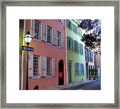 Pretty Lane In Charleston Framed Print