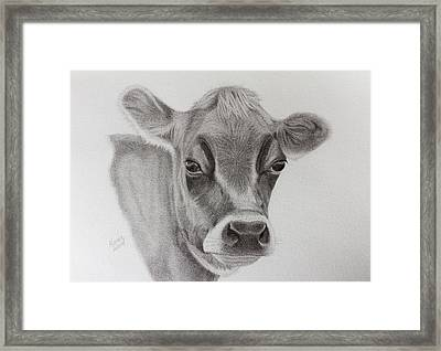 Pretty Little Cow Framed Print by Karen Wood
