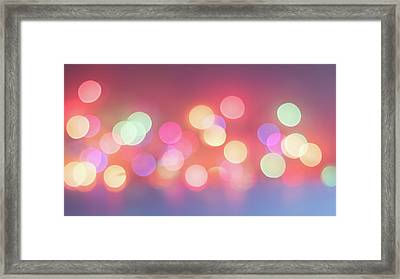 Pretty Pastels Abstract Framed Print by Terry DeLuco