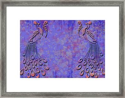 Pretty Peacock Framed Print by Ankeeta Bansal