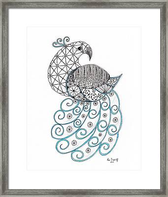 Pretty Peacock Framed Print