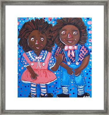 Pretty Peter And Penny Framed Print by Clara Spencer
