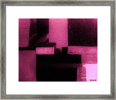 Pretty Pink Abstract Framed Print by Marsha Heiken