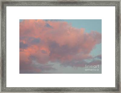 Framed Print featuring the photograph Pretty Pink Clouds by Ana V Ramirez