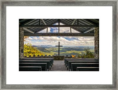 Pretty Place Chapel - Blue Ridge Mountains Sc Framed Print by Dave Allen