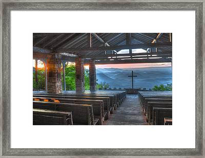 Pretty Place Chapel New Dawn Framed Print by Reid Callaway