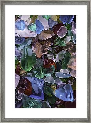 Pretty Sea Glass Framed Print by Garry Gay