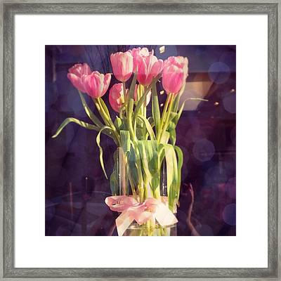 Pretty #tulip #flower #arrangement I Framed Print