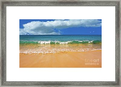 Pretty Waves In Paradise By Kaye Menner Framed Print