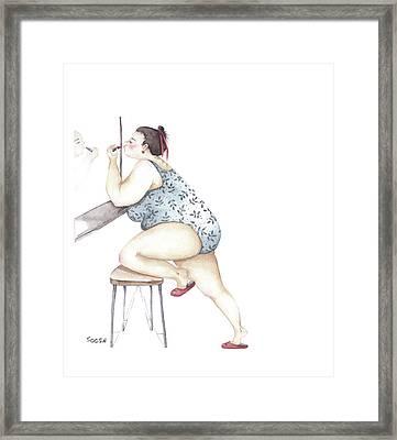 Pretty Woman Framed Print by Soosh