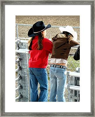 Pretty Young Cowgirls  Framed Print by Al Bourassa