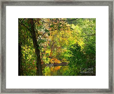 Prettyboy Of Autumn Framed Print