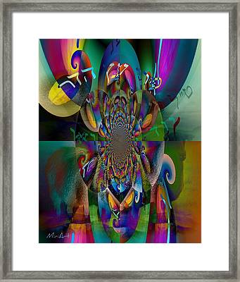 Framed Print featuring the photograph Pri Eitz Hadar Abstract by Miriam Shaw