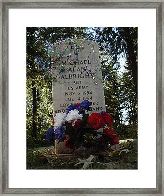 Price Of Independence And Liberty Framed Print by Peter Piatt