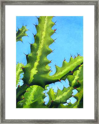 Prickly Friends Framed Print