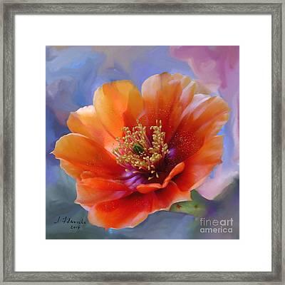 Prickly Pear Bloom Framed Print