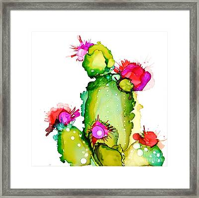 Prickly Pear Cooler Framed Print by Marla Beyer