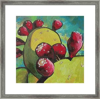 Prickly Pear Fruit Framed Print