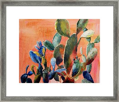 Prickly Pear Framed Print by Lynee Sapere