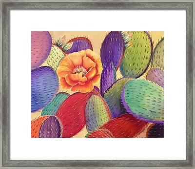 Prickly Rose Garden Framed Print