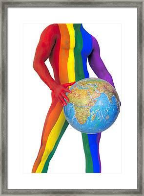 Pride Around The World Framed Print by Filippo Ioco