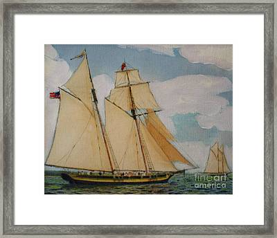 Pride Of Baltimore Framed Print by Bill Hubbard
