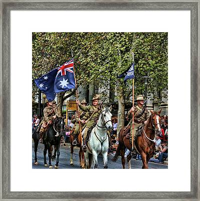 Pride Of War And Peace Framed Print by Douglas Barnard
