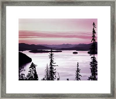 Priest Lake Framed Print by Leland D Howard