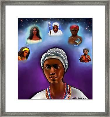 Priestess Of Santeria Framed Print