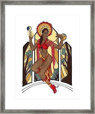 Priestess Of The Sun Framed Print by Kat Crossland