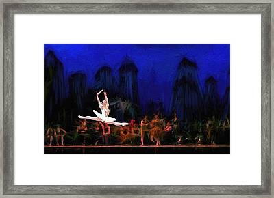 Prima Ballerina Framed Print by Louis Ferreira