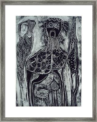 Primal Framed Print by Angela Dickerson