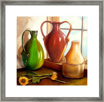 Primarily Jugs. Sold Framed Print
