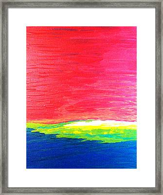 Primary Framed Print by Amanda Schambon