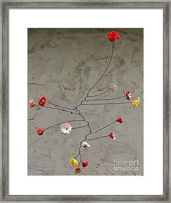 Primary Blossoms Framed Print