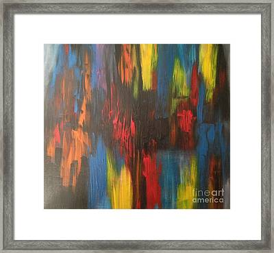 Primary Chaos  Framed Print by Sandra Gallegos