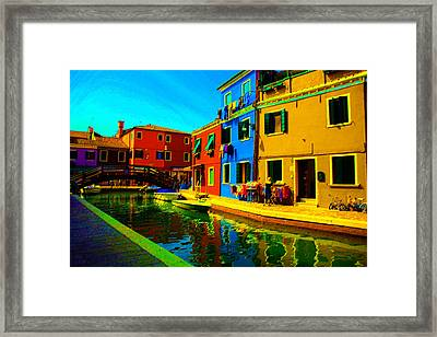Primary Colors 2 Framed Print by Donna Corless